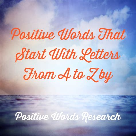 positive words  start  letters