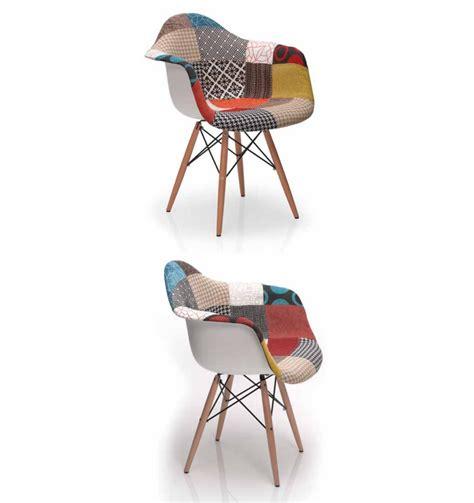 pied de chaise en bois chaise design pieds bois et accoudoir patchwork