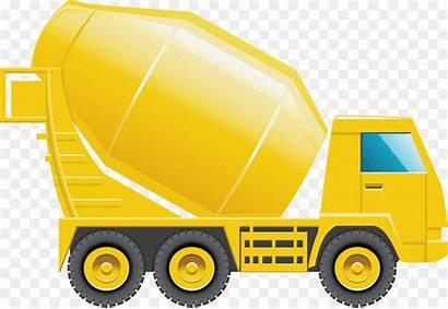 Mixer Truck Cement Concrete Clipart Construction Clip