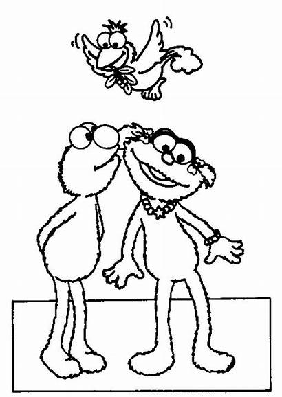 Elmo Sesame Coloring Pages Zoe Kiss Street