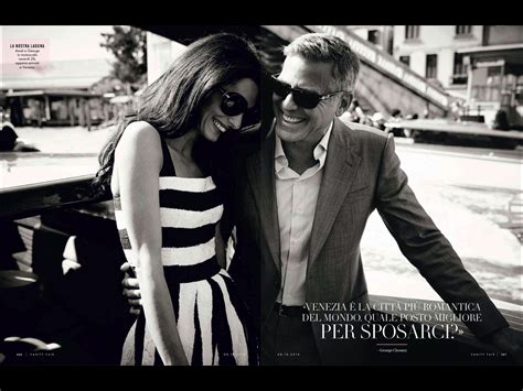 george clooney vanity fair amal alamuddin and george clooney in vanity fair italy