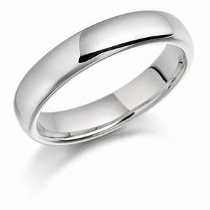 mens 18ct white gold 5mm plain heavyweight court wedding ring With white gold mens wedding ring