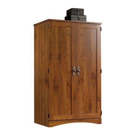 Used Computer Armoire by Sauder Harvest Mill Computer Armoire Oak Finish