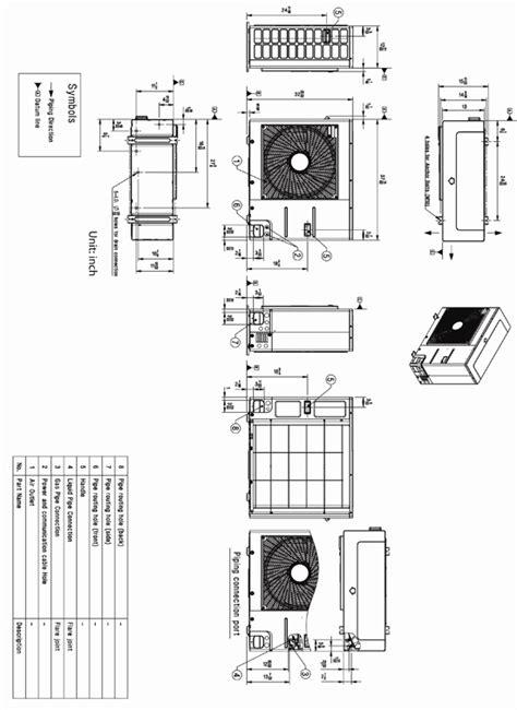 Mini Split Ceiling Cassette Dimensions by Lg Lc247hv Ceiling Cassette Heat Ductless Mini Split
