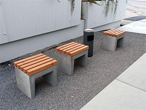 gartenbank aus beton bauen holz garten ideen