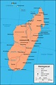 Madagascar Map and Satellite Image