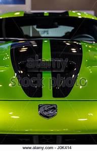 Vancouver Canada Circa 2017 Dodge Viper GT in Lime