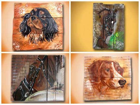 Peinture Sur Bois De Palette / Painting on Pallet Wood