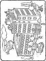 Hospital Drawing Colouring Kiddicolour Getdrawings sketch template