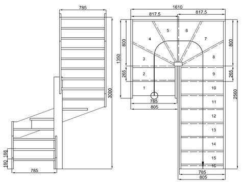 plan escalier quart tournant notre escalier vert maison paille passive44