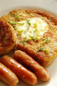 French Toast in a Hole Eggs