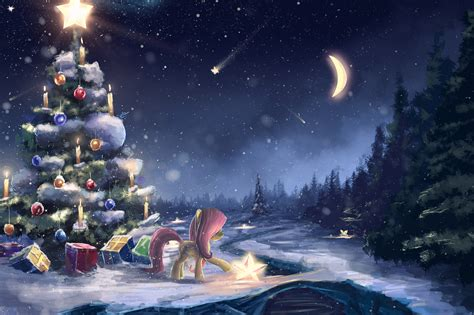 picture   pony horses christmas nature winter