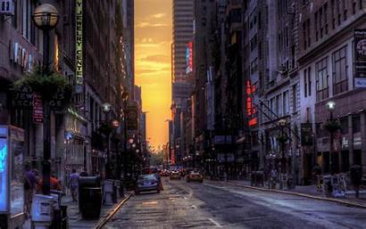 Street York Urban Building Night Road Alley