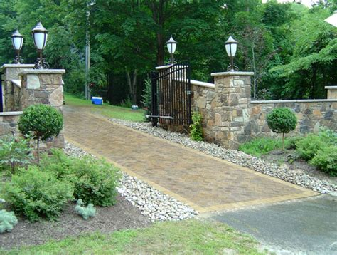 driveway landscape design garden design setting the standard of your home abode