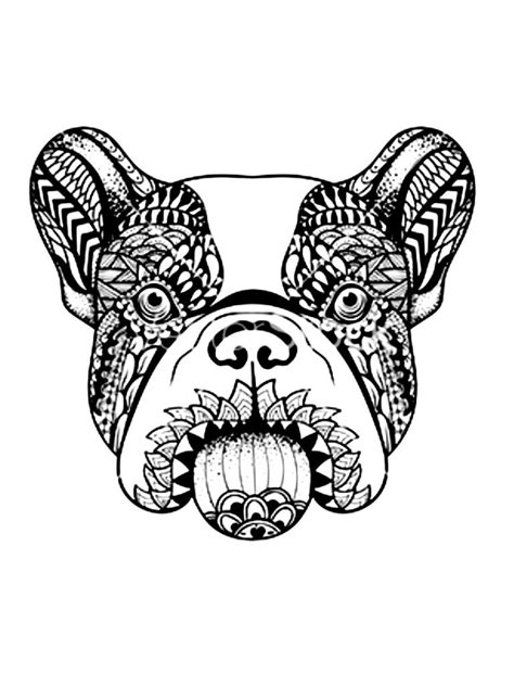 French Bulldog Stencil, Dias de Los Muertes, Day of the Dead, tattoo illustration. | Tattoo