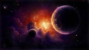 paintings, outer space, planets, digital art, airbrushed ...