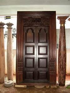 Rare Antique Carved Rosewood Main Door From India Photo