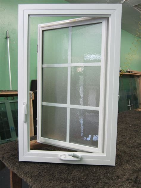 vinyl casement windowwith obs glass  grids block frame