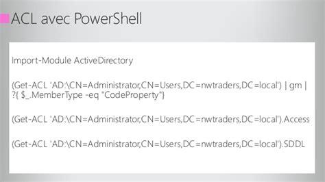Sécurité Active Directory