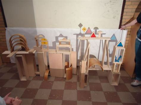 reggio emilia light table to create a skyline children built with blocks and then