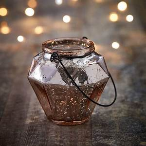 Rose, Gold, Geometric, Tea, Light, Holder, By, The, Contemporary, Home