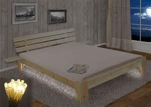 Bett Perth Doppelbett Massivholz Inkl Lattenrost Ablage
