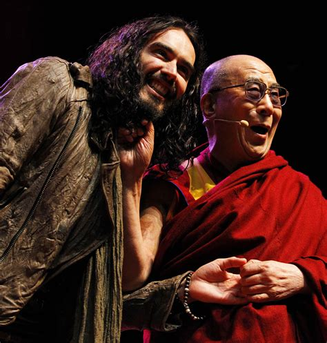 russell brand young russell brand opens dalai lama talk for young people at