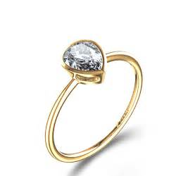 shaped engagement rings bezel set pear shaped engagement ring in 14k yellow gold