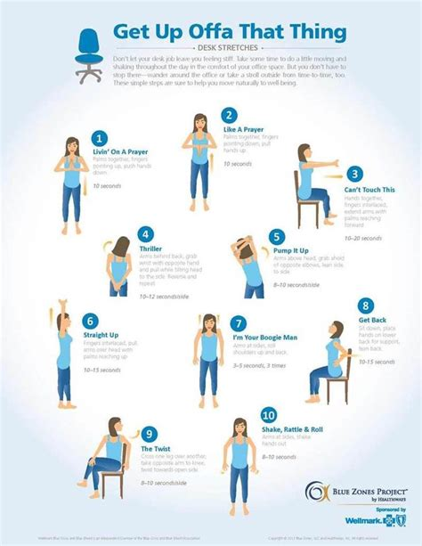 Office Desk Exercises by National Safety Stand Week Office And