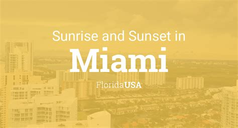 sunrise  sunset times  miami march
