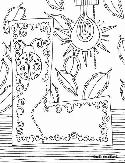 Coloring Pages Doodle Alphabet Printable Alley Letter