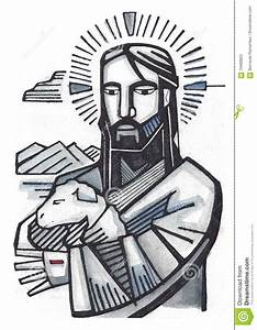 Jesus Good Shepherd Stock Illustration - Image: 70469923