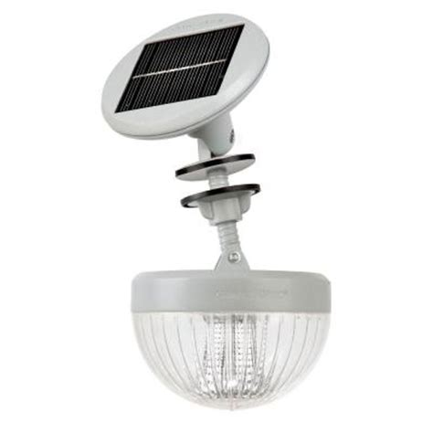 gama sonic crown solar led shed light with adjustable