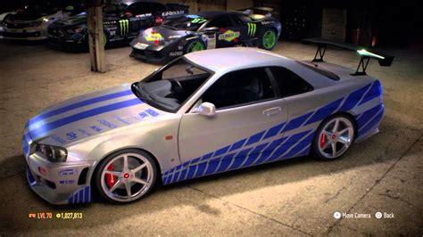 Skyline Paul Walker by Need For Speed 2015 Ps4 Paul Walker S R34 Nissan