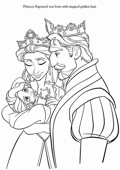 Princess Rapunzel Coloring Tangled Pages Hair Flynn