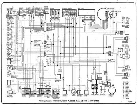 cx500 wiring diagram general cx500 cx650 gl500 gl650
