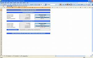 excel net present value template - present value calculator excel templates