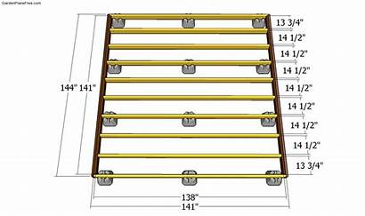 Deck Floating Plans Block Frame Building Build
