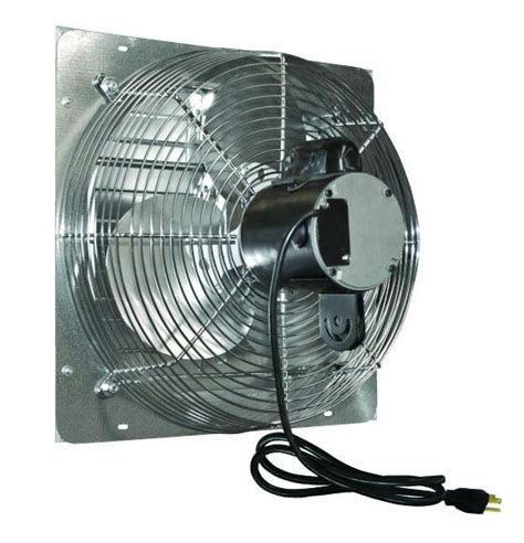 industrial fans direct com ves variable speed shutter exhaust fan w cord 20 inch