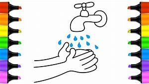 How to Draw a Water Faucet | Baby wash your Hands ...