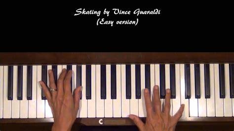 Skating By Vince Guaraldi Piano Tutorial At Tempo V.1 Easy