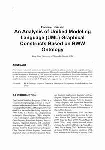 Pdf  An Analysis Of Unified Modeling Language  Uml  Graphical Constructs Based On Bww Ontology