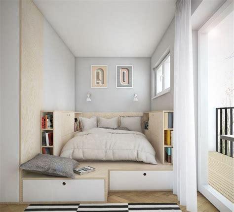 chambre adulte petit espace aménagement chambre utilisation optimale de l