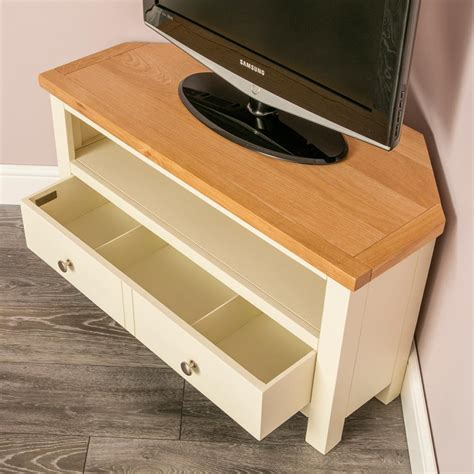 farrow cream painted corner tv stand  screen sizes