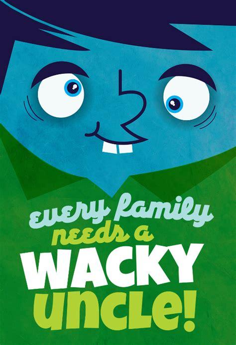 wacky uncle birthday card   island
