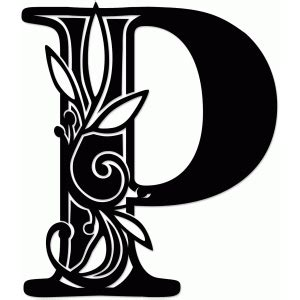 silhouette design store view design  vine monogram p
