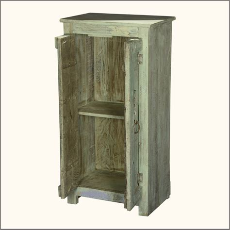 2 door wooden cabinet furniture small storage cabinet made of reclaimed wood in