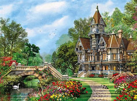 OLD WATERWAY COTTAGE 500 PIECE CLEMENTONI JIGSAW PUZZLE