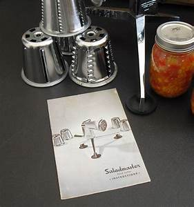 Vintage Saladmaster Food Cutter Instruction Manual  How To