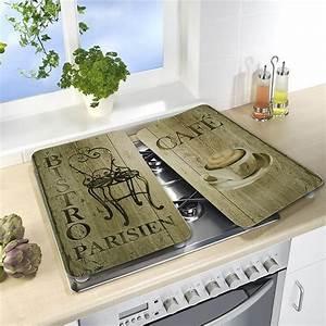 Plaque Protection Murale Cuisine : 2 couvre plaques protection d coration bistrot wenko ~ Dailycaller-alerts.com Idées de Décoration
